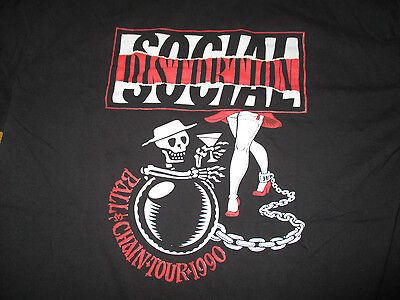 1990 SOCIAL DISTORTION Ball & Chain Concert Tour (XL) T-Shirt