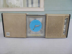 Vintage RCA Clock Radio Portable Travel Alarm Solid State Wind Up Clock Work's