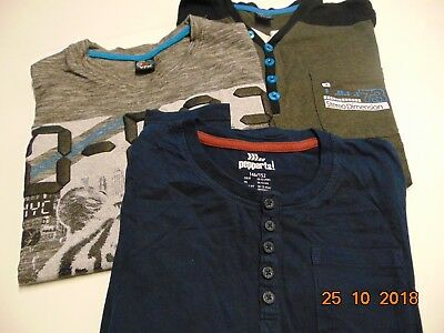 Langarm-T-Shirts-3-Stk-für -Jungs Gr.146/152