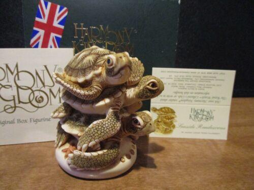 Harmony Kingdom Seaside Rendezvous V2 Green Sea Turtles UK Made Box Figurine