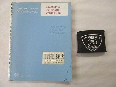 Tektronix Type 531a 541a Cathode-ray Oscilloscope Service Instruction Manual