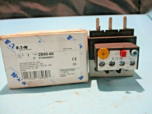 NEW EATON ZB65-65 OVERLOAD RELAY 50-65A