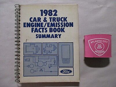 1982 Ford Car   Truck Engine   Emissions Facts Book Summary Manual