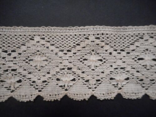 "Lovely Vintage   cotton  lace trim edging 1 3/4"" x  86"""