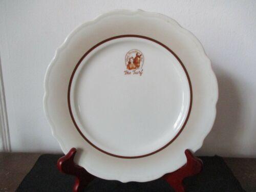 1952 Souvenir Restaurant Dinner Plate Syracuse China The Turf Billings Montana