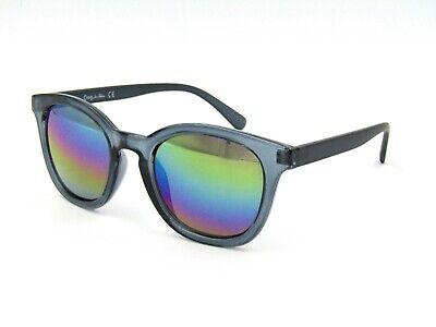 Circus by Sam Edelman CC240 Retro Sunglasses, Gray / Mirror Purple Blue (Circus By Sam Edelman Sunglasses)