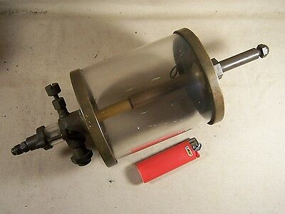 Antique Large Solid Brass Glass Visible Drip Oiler Essex Corp. Steampunk