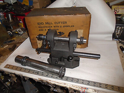 Machinist Lathe Mill Made In Japan End Mill Cutter Sharpener Fixture In Box