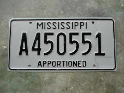 Mississippi Apportioned license plate  #   450551