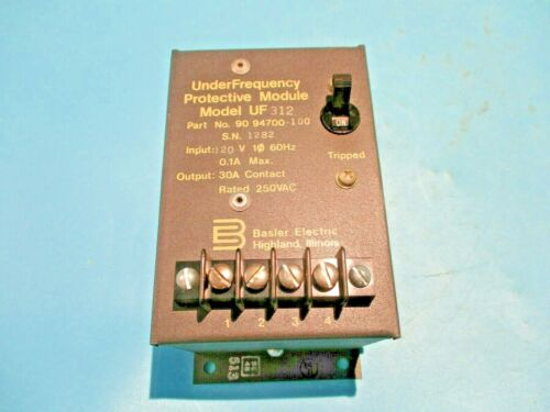 NEW BASLER ELECTRIC UF-312 UNDER FREQUENCY PROTECTIVE MODULE 90-94700-100