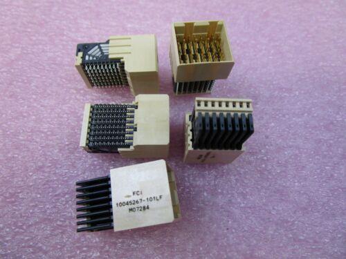 (5 NEW) 10045267-101LF - FCI Electronics Backplane / Hard Metric / DIN
