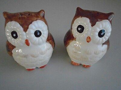 ***Brand New Woodlands Owls Salt & Pepper Shakers by Better
