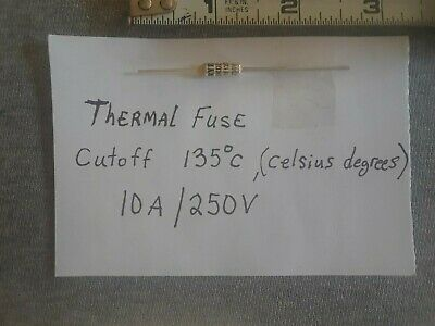 Thermal Fuse Cutoff 135cdegrees Celsius10a250v
