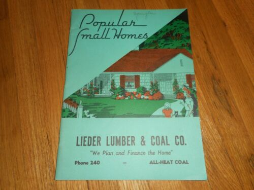 Vintage POPULAR SMALL HOMES BUILDERS DESIGN GUIDE SALESMAN CATALOG BOOK