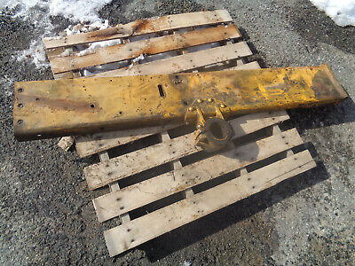 John Deere 1010 Crawler Dozer. Left Side Frame With Mounting Bracket Rubbers
