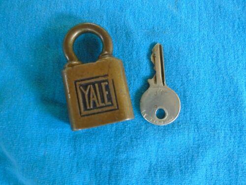 vintage Yale lock, marked US, opens by pushing key up, not turning it, works