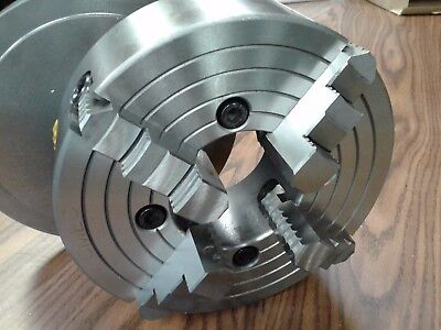 10 4-jaw Lathe Chuck W. Independent Jaws W. L00 Semi-finished Adapter 1004f0