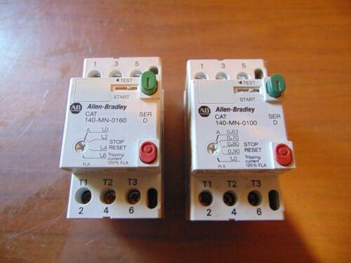 (2) Allen Bradley Motor Starters 140-MN-0100 + 140-MN-0160