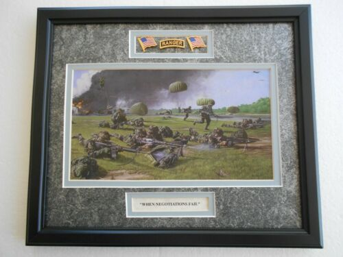 """WHEN NEGOTIATIONS FAIL""  Rangers        by Ric Druet  framed art"