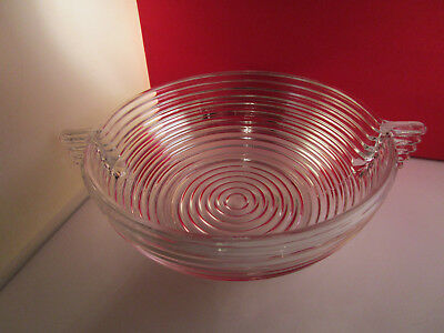 Vintage Anchor Hocking Manhattan Clear Glass Large Salad Bowl (Glass Large Salad Bowl)