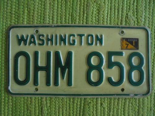1971 Washington License Plate WA Tag OHM 858