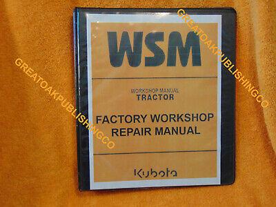 Kubota M5400 Tractor Service Workshop Manual Binder