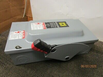 Square D H362 F3 Fusible 60 A Amp 600v Safety Switch Disconnect Type 1