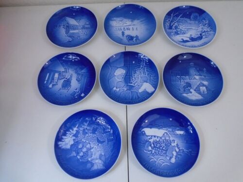 Bing & Grondahl 1970s - 1980s Christmas Plate Collectible Denmark Lot of 8