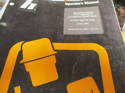 International Td-7 Series E Crawler Tractors Operators Manual