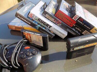 Joblot of 9 Sega Megadrive classic games and 1 controller - boxed...