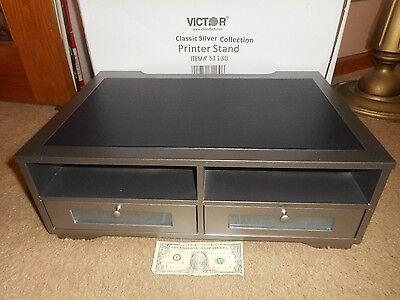 Victor Printer Stand Classic Silver Collection 2 (2 Drawer Office Printer Stand)