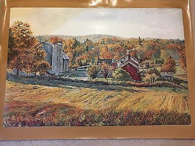 AUTHENTIC ARTAGRAPH OIL PAINTING OCTOBER MORNING M. KEIRSTEAD,SIGNED 211/1000  - $35.00