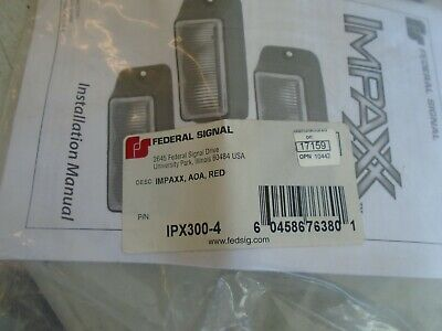 Ipx300-4 Red Federal Signal