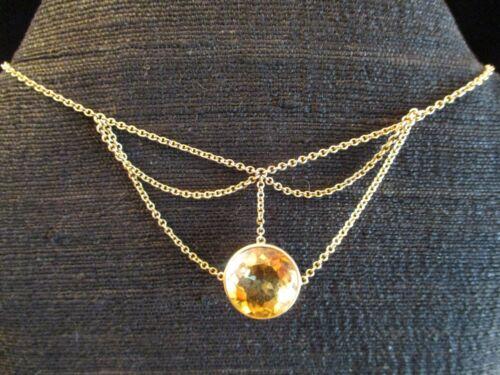 EDWARDIAN 1910 Antique 14kt GOLD & CITRINE Festoon NECKLACE