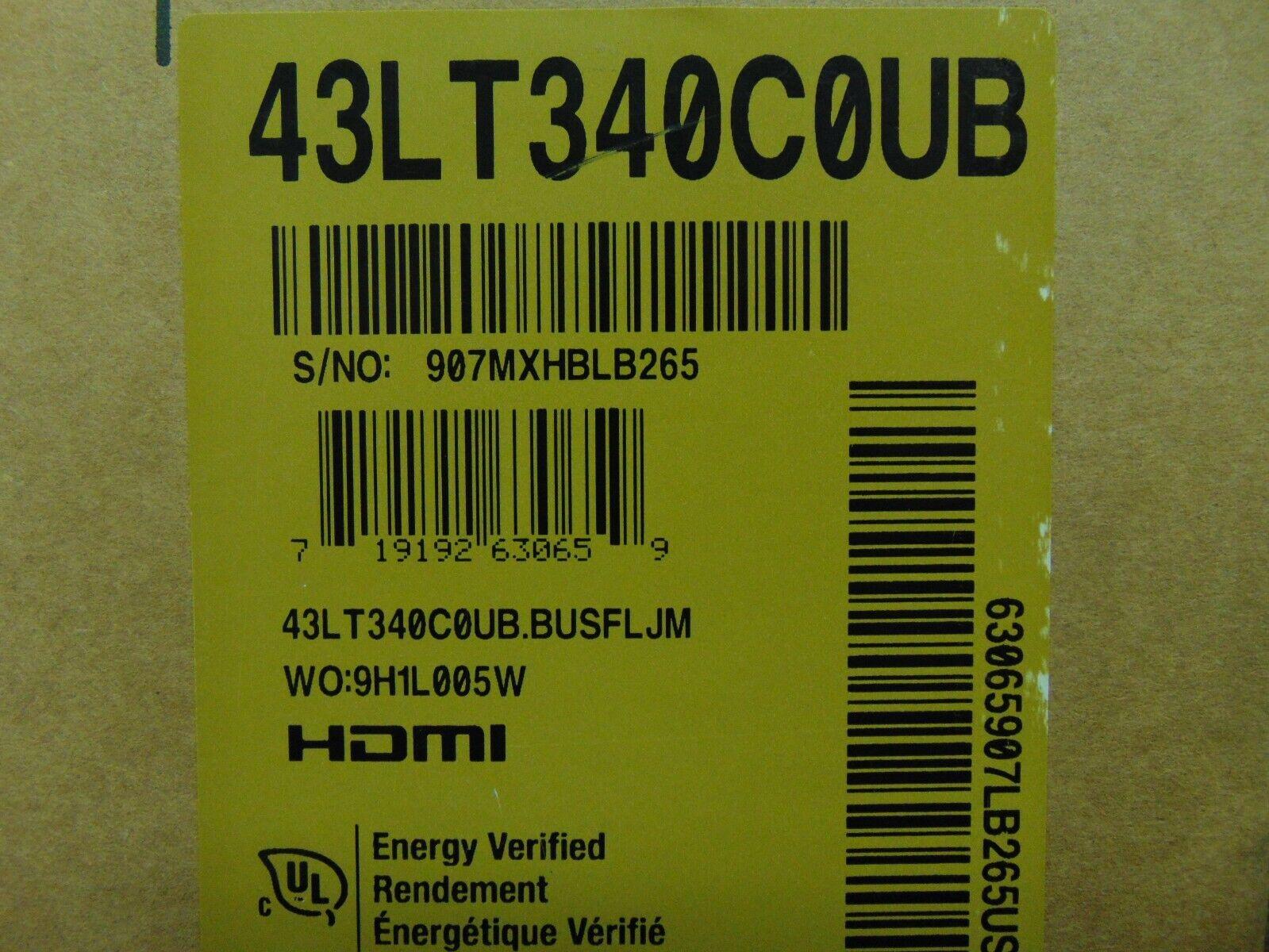 "LG LT340C 43"" Class HDR Full HD Commercial LED TV 43LT340C0UB"