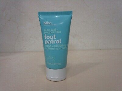 BLISS FOOT PATROL ALOE LEAF + PEPPERMINT AHA EXFOLIATING SOFTENING CREAM 2.5 (Aha Exfoliating Foot Cream)