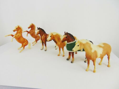 Vintage Lot of 6 BREYER HORSES Classic 1:12 Scale + Fighting Stallion