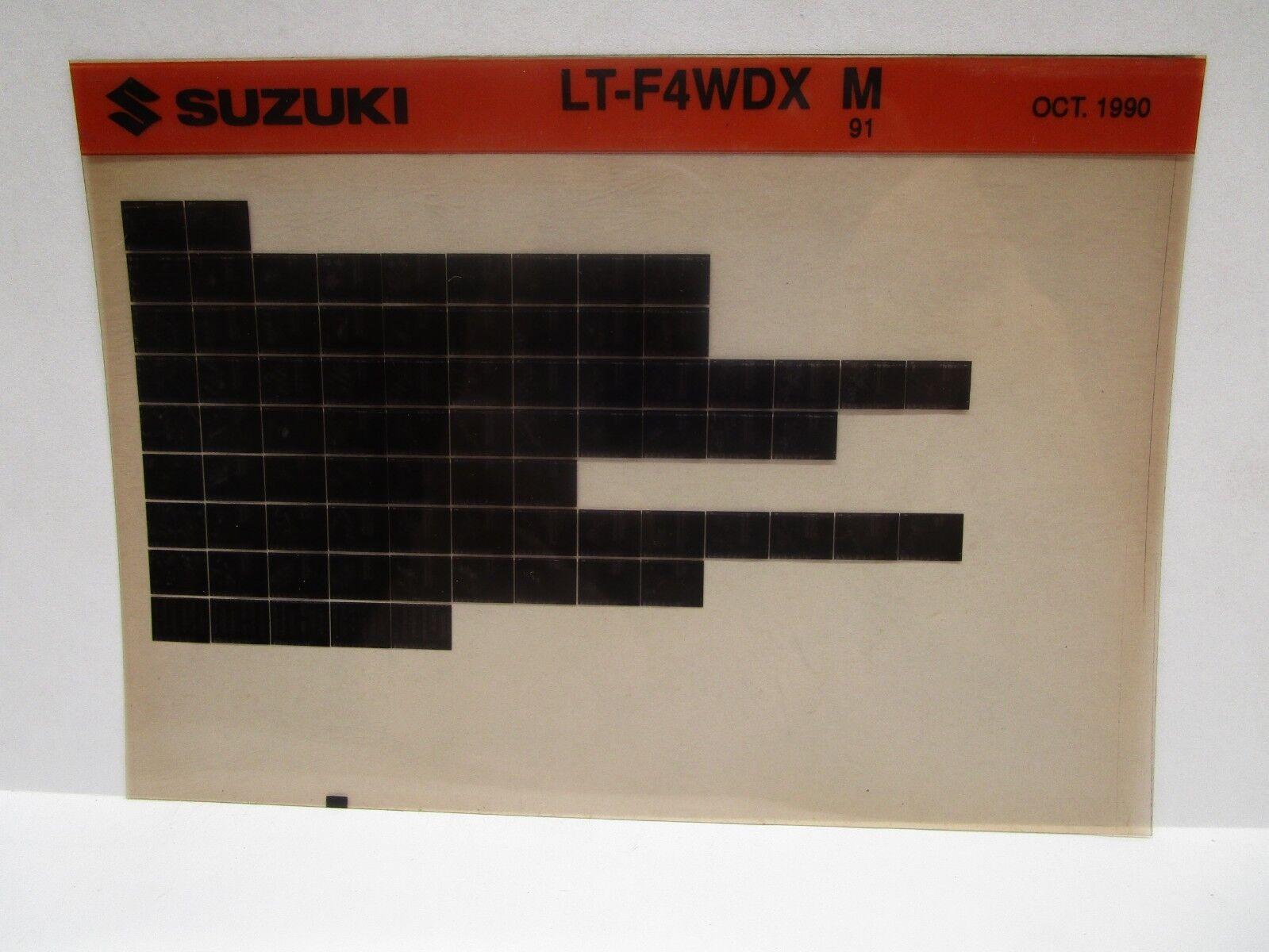 Suzuki LT-F4WDX M 91 Parts Catalog Microfiche October 1990
