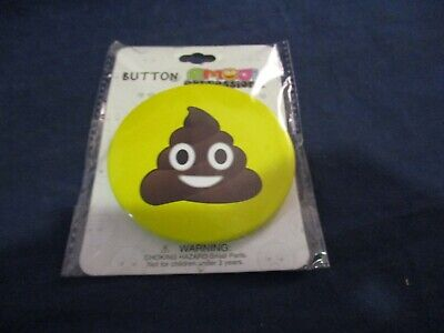 Funny Laugh Ice Cream Poo Swirl 6 Sizes Available Poop Emoji Pin-Back Button
