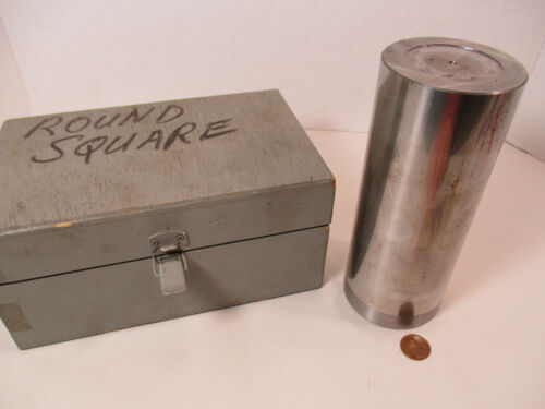 """Large CYLINDER SQUARE 2.700"""" Diameter 6-1/2"""" Tall, Precision Ground, w/ Case, EC"""