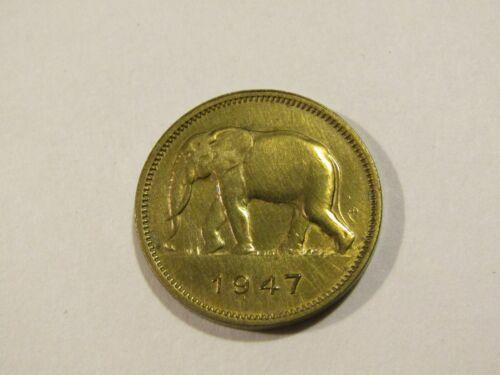 Belgium Congo 1947 2 Francs Coin