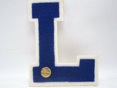 """1 7//8/"""" x 2 1//2/"""" White Black Block Letterman/'s Letter Y Felt Patch"""