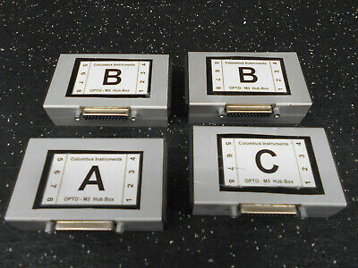 Lot Of 4 Columbus Instruments Opto-m3 Hub Box