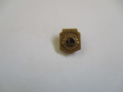 vintage 1935 Lions Club 100% Attendance Award Lapel Pin