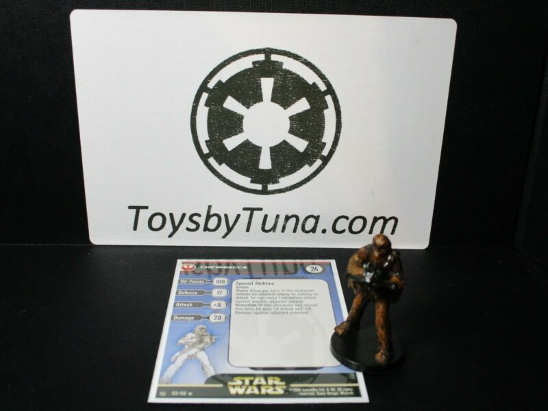 Star Wars Miniatures Chewbacca Rebel Storm RS w/ Card mini RPG Legion