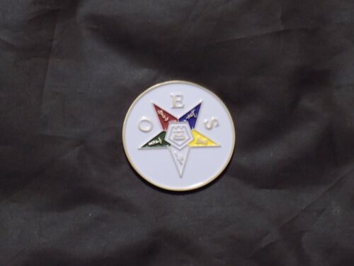 Large Challenge Coin Freemason Order Eastern Star OES Engravable Masonic NEW!