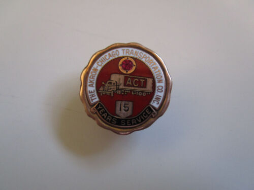ACT Akron Chicago 15yrs Service Safe Driver Award Trucker Trucking Truck Pin