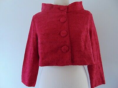 Lindy Bop Dina Red Jacket Size 14 Jackie O Style New With Tags