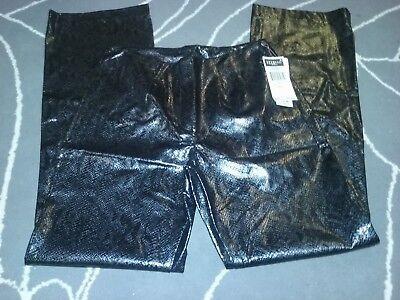 star city clothing company pants grey/black shiny snake look sz 11 new/tags usa - Party City Stars