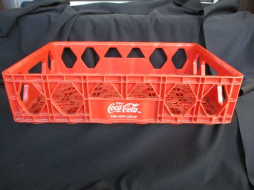 VINTAGE COCA COLA RED PLASTIC CARRIER CASE CRATE COKE